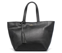 CABAS PARISIEN S Cuir grainé Handtasche in schwarz