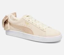 Basket Bow Varsity Sneaker in goldinbronze