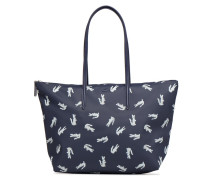 L SHOPPING BAG Handtasche in blau