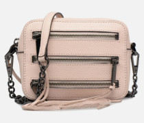 4 ZIP MOTO CAMERA BAG Handtasche in rosa