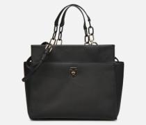 TH SAFFIANO SATCHEL Handtasche in schwarz