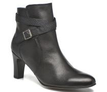IFOPO #Vo Mil.NOIRinCh Max ~Doubl & 1ere CUIR Stiefeletten Boots in schwarz