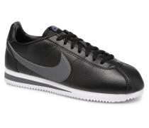 Classic Cortez Leather Sneaker in schwarz