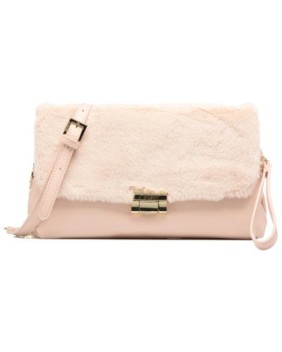Pochette fourrure Handtasche in rosa
