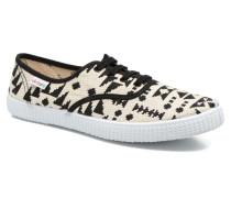 Ingles Geometrico Lurex Sneaker in schwarz