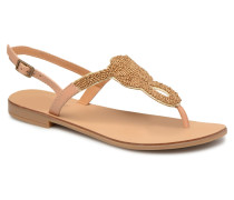 Carmen leather sandal Sandalen in beige