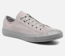 Chuck Taylor All Star Mono Plush Suede Ox Sneaker in grau