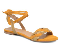 Plagettes Tressées Sandalen in gelb