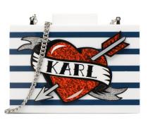 K Kaptain Karl Rayures Handtasche in mehrfarbig