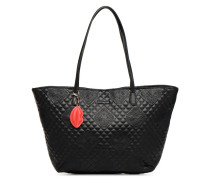 CLAUDIA CAPRI ZIPPER Handtasche in schwarz