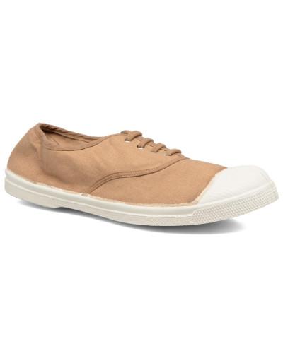 Tennis Lacets Sneaker in beige