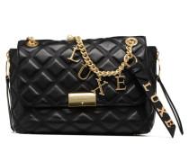 Vicky Top Handle Flap Handtasche in schwarz