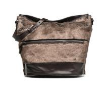 Seau fourrure Handtasche in grau