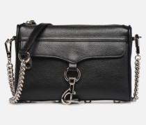MINI MAC PEBBLE With chain strap Handtasche in schwarz