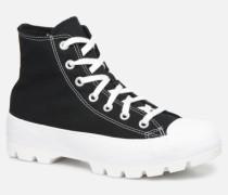 Chuck Taylor All Star Lugged Basic Canvas Hi Sneaker in schwarz