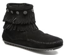 Double Fringe side zip boot Stiefeletten & Boots in schwarz