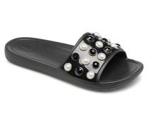 Sloane Timeless Pearl Slide Clogs & Pantoletten in schwarz