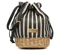 Seau rayé Handtasche in schwarz