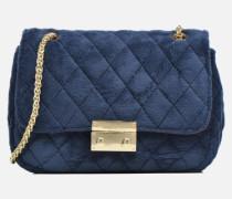 Crossbody Omia Velvet Handtasche in blau