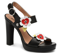 Love Flower Sandalen in schwarz