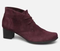Un Damson Tie Stiefeletten & Boots in weinrot