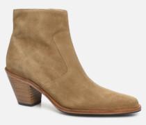 Jane 7 Zip Boot Stiefeletten & Boots in beige