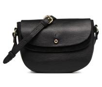 Magda Leather Crossbody Handtasche in schwarz