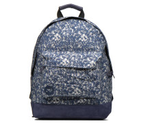 Premium Denim Spatter Backpack Rucksäcke für Taschen in blau