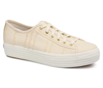 Triple Kick Eyelash Canvas Sneaker in beige