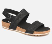 Malibu Waves 2 Band Sandal Sandalen in schwarz