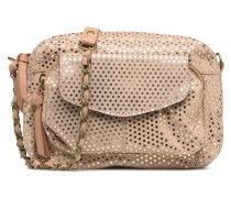 Naina Leather Crossover Handtasche in beige