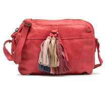 Izza Leather Crossbody Handtasche in rot