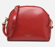Sac Gaspard Pu coated leather Handtasche in rot