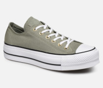 Chuck Taylor All Star Lift Canvas Ox Sneaker in grün