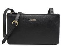 Double Zip Crossover Handtasche in schwarz