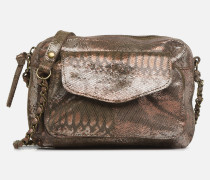 Naina Leather Crossover Handtasche in goldinbronze