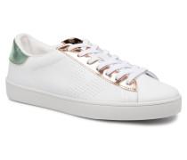 Deportivo Piel Metalizado Sneaker in rosa