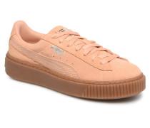 Wns Suede Platform Gum Sneaker in orange