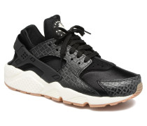Wmns Air Huarache Run Prm Sneaker in schwarz