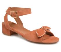 Vega Ankle Kid Suede Sandalen in orange