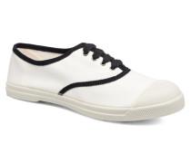 Tennis Lacet Gros Grain Sneaker in weiß