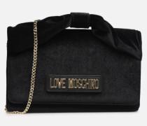 EVENING BAG VELVET Handtasche in schwarz