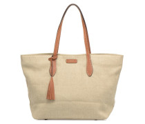 Shopper Toile Handtasche in beige