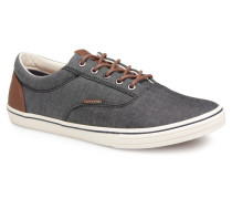 Jack & Jones JFW Vision Chambray Mix SS Sneaker in grau