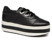 Kobo Kup 3Eye Tie Lthr Sneaker in schwarz