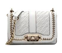 Woven chain Mini Love Crossbody Handtaschen für Taschen in weiß