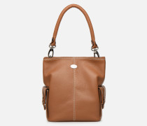 MEGALOVESUVIO S Handtasche in braun