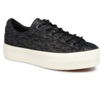 One Star Platform Ox Sneaker in schwarz
