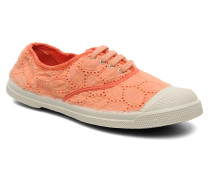 Tennis Broderie Anglaise Sneaker in orange