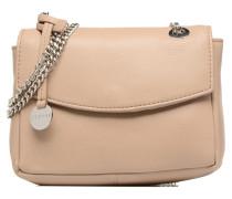 Chain leather Handtasche in beige